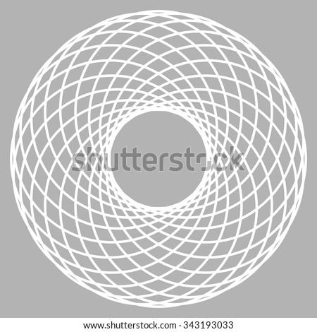 Tube torus sacred geometry vector - stock vector