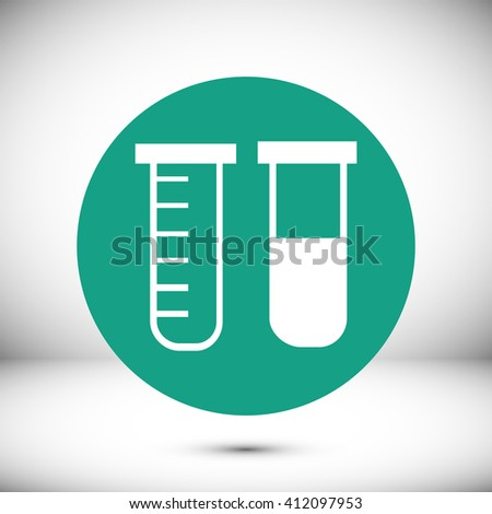 tubes icon - stock vector