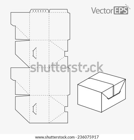 Tuck-in side slot - stock vector