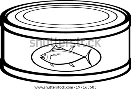 tuna can - stock vector