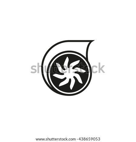 Turbo icon. Turbo sign. Turbo symbol - stock vector