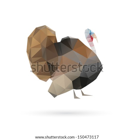 Turkey abstract isolated on a white backgrounds - stock vector