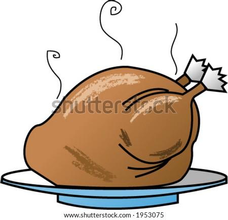 Turkey Dinner - stock vector