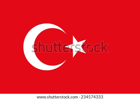 Turkey flag - stock vector