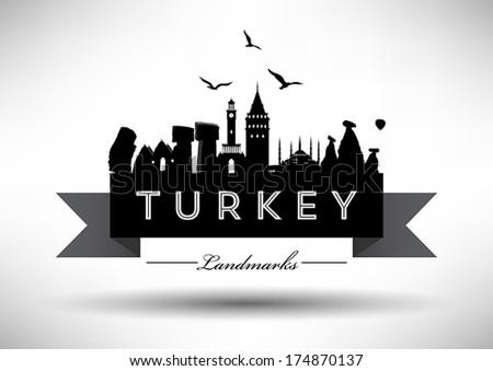 Turkey's Landmark Design - stock vector