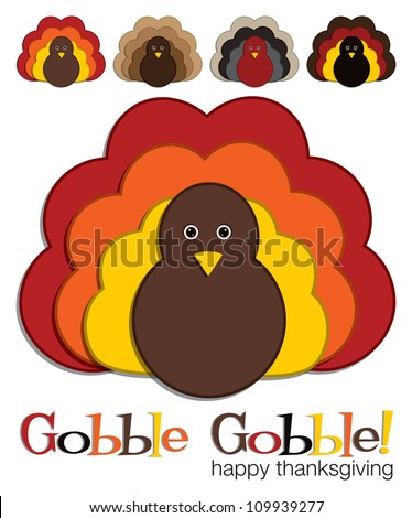 Turkey stickers in vector format. - stock vector