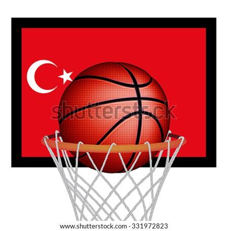 Turkish basketball, vector - stock vector
