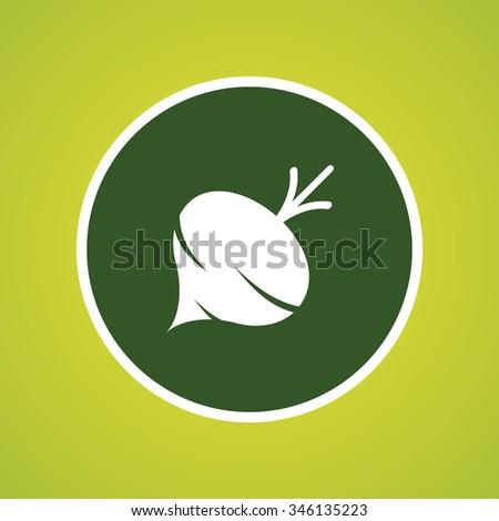 Turnip Icon - stock vector