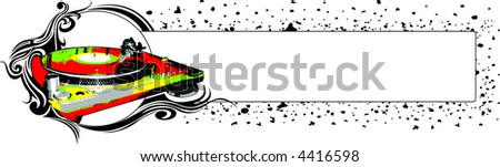 turntable 2 - stock vector