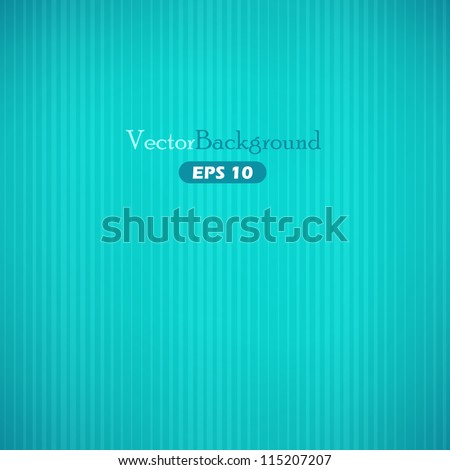 Turquoise abstract vector background with stripes - stock vector