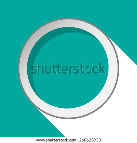 turquoise circle with stylized shadow on a black background - stock vector