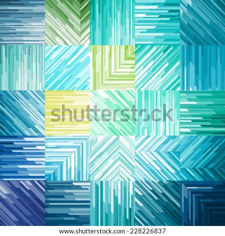 Turquoise Geometric Background, vector eps10 illustration - stock vector