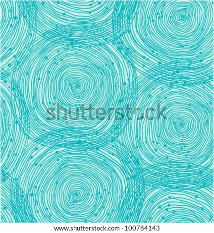 Turquoise spiral pattern - stock vector
