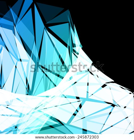Turquoise Triangular Abstract Vector Background - stock vector
