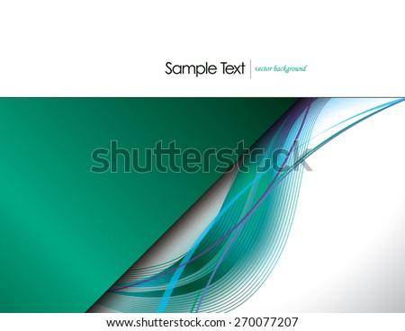 Turquoise Vector Wavy Background. - stock vector