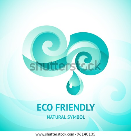 Turquoise water symbol. - stock vector