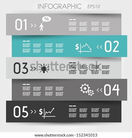 turquoise zig zag infographic element. infographic concept. - stock vector