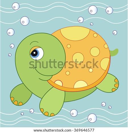 turtle. vector illustration turtle - stock vector