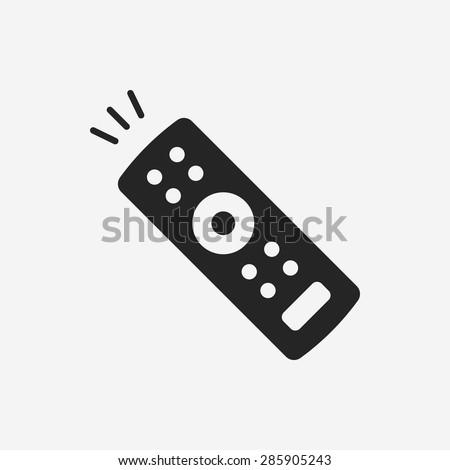 tv control icon - stock vector