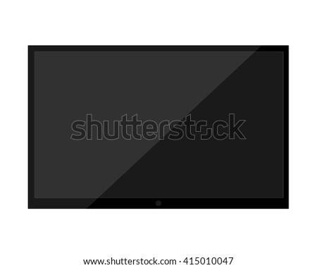 TV flat screen lcd. TV vector. TV realistic. TV black. TV blank. TV infographic. TV eps. TV monitor. TV mockup. TV device. TV illustration. TV  art. TV web. TV site. TV picture. TV wall. TV HD video  - stock vector