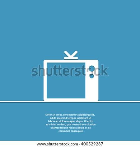 Tv flat vector icon. Tv icon eps. Tv icon jpg. Tv icon sign. Tv icon art. Tv icon drawing. Tv icon design. Tv icon isolated. Tv icon logo - stock vector