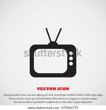 TV icon - stock vector