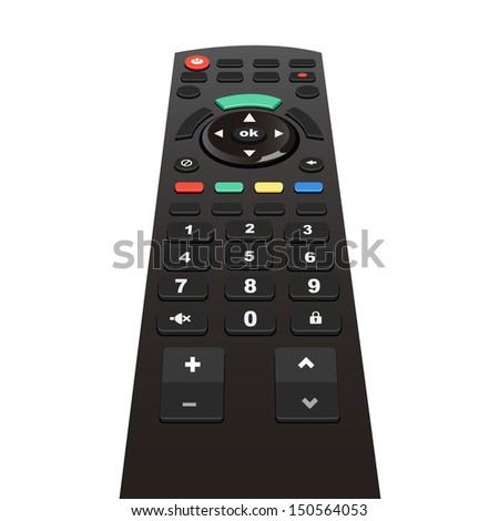 tv remote - stock vector