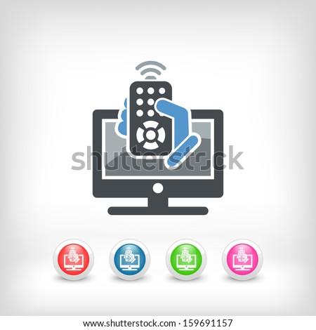 Tv remote controller - stock vector