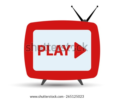 tv streaming monitor for web - stock vector