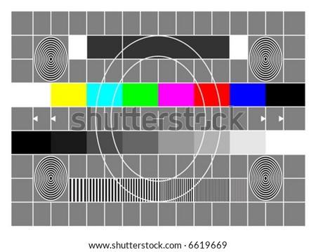 TV test screen - stock vector