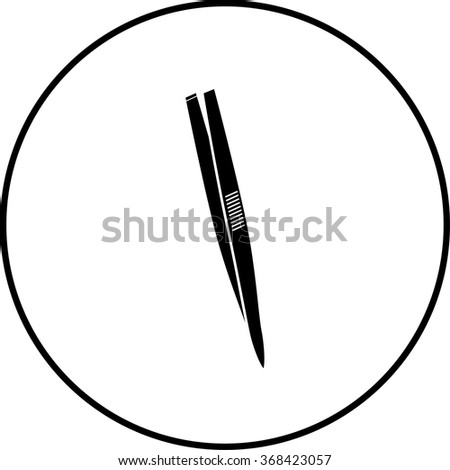 tweezers symbol - stock vector