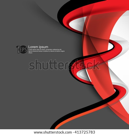 twisting lines design material background. eps10 vector - stock vector