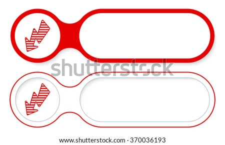 Two abstract buttons for your text and flash symbol - stock vector