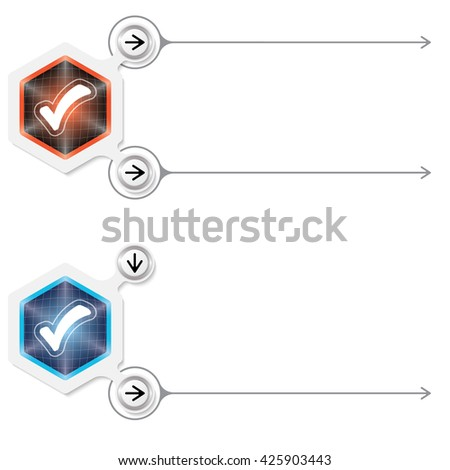 Two abstract frames for your text and check box - stock vector