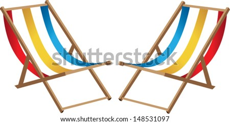 Two Beach chairs - stock vector