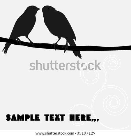 two birds - stock vector