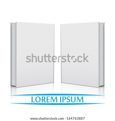 Two Blank book white cover  - stock vector