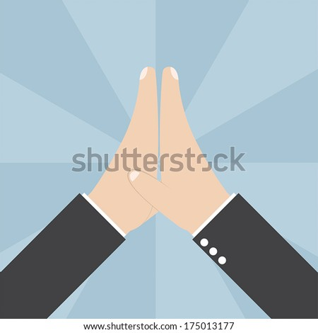 Two Businessmen hands giving a high five, VECTOR, EPS10 - stock vector