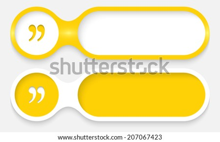 two buttons for entering text with quotation mark - stock vector