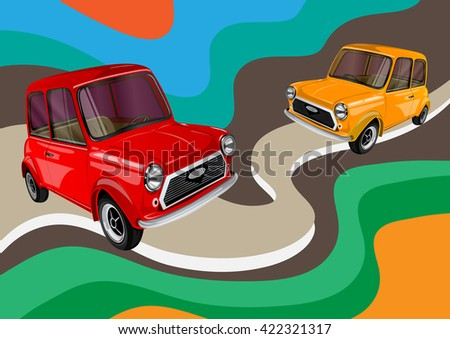 two car  - stock vector
