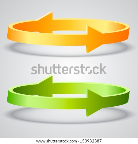 Two circled arrows - stock vector