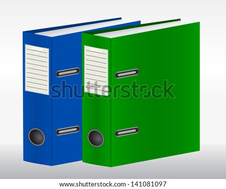 Two color binders - stock vector