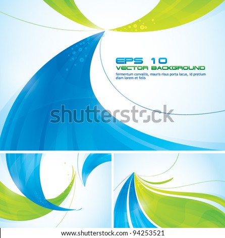Two Colors Abstract Background (blue and green). - stock vector