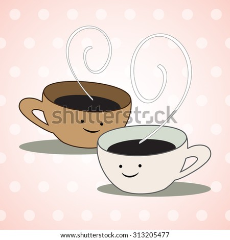 Cute Coffee Cup Stock Vectors Vector Clip Art Shutterstock