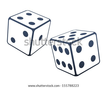 Two dices vector illustration - stock vector
