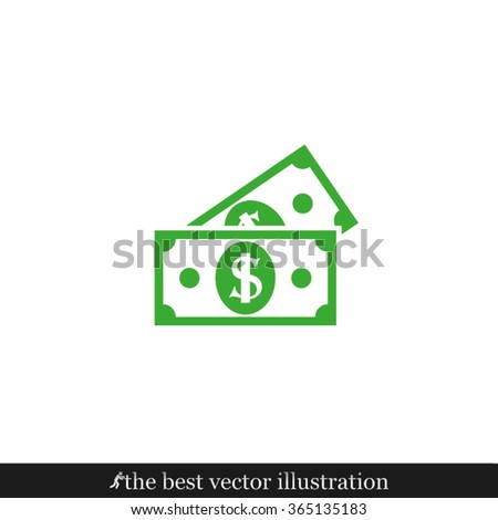 two dollars icon - stock vector