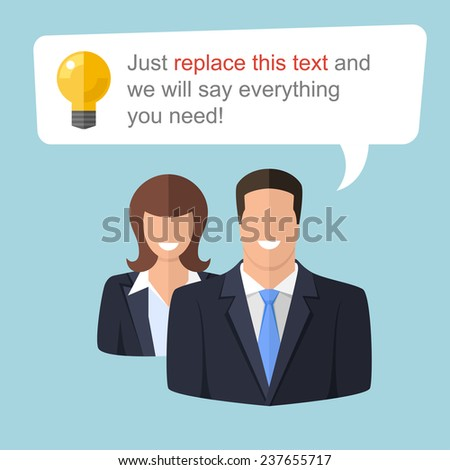 Two expert advisers will say everything you need. Use them if you need to illustrate some idea. - stock vector