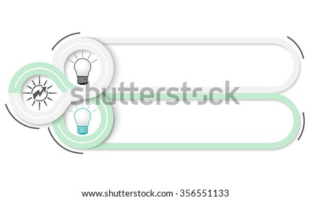 Two frames for your text and bulb icons - stock vector