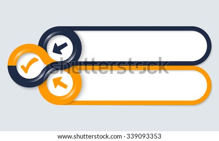 Two frames for your text and check box - stock vector