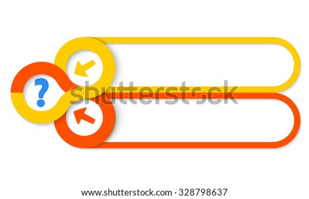 Two frames for your text and circular areas for icons - stock vector